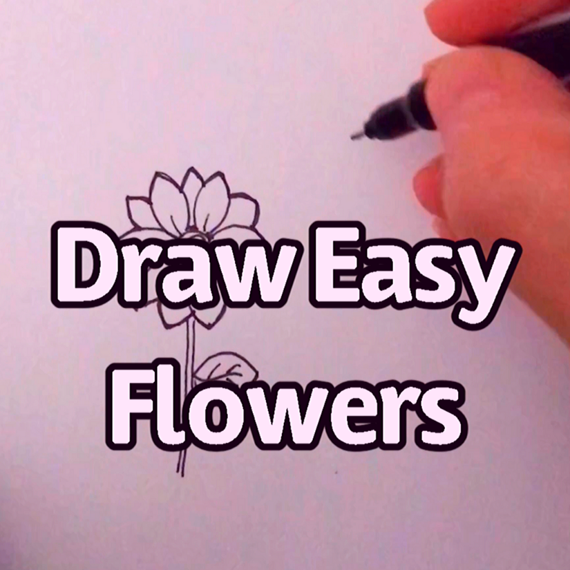 Draw Easy Flowers